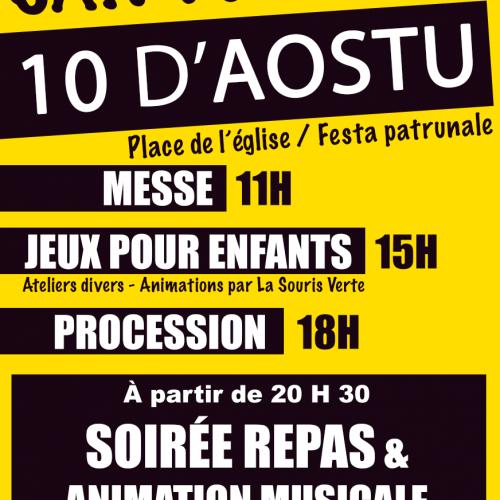 10 D'AOSTU – FESTA PATRUNALE